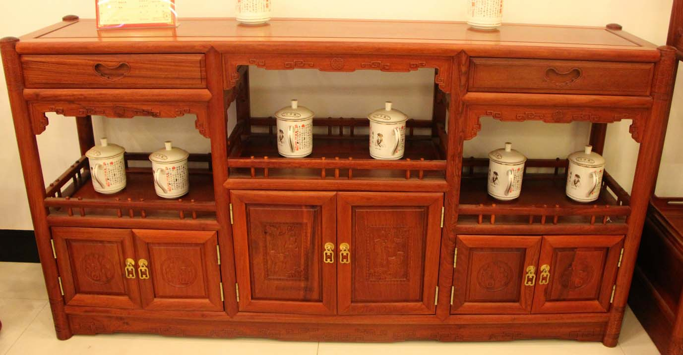 明清居 经典系列 金典明式系列客厅 茶水柜